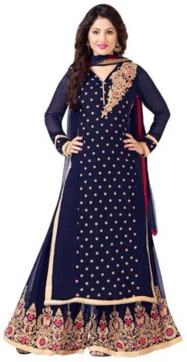 Madhuram Georgette Embroidered Salwar Suit Dupatta Material
