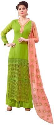 Krizel Trendz Georgette Embroidered Salwar Suit Dupatta Material