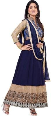 FashionsBazaar Georgette Self Design Semi-stitched Salwar Suit Dupatta Material