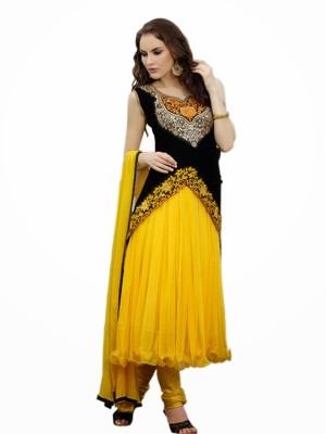 Jassu Fashion Hub Net, Velvet Self Design Semi-stitched Salwar Suit Dupatta Material