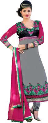 We Desi Georgette Embroidered Semi-stitched Salwar Suit Dupatta Material