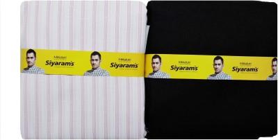 Siyarams Cotton, Polyester Striped Shirt & Trouser Fabric