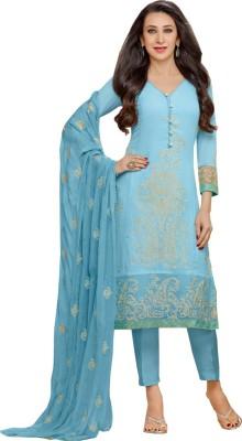 Foxfashion Georgette Embroidered Salwar Suit Dupatta Material