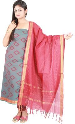 Pratami Cotton Self Design Salwar Suit Dupatta Material
