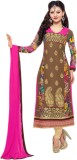 Panku Georgette Embroidered Semi-stitche...