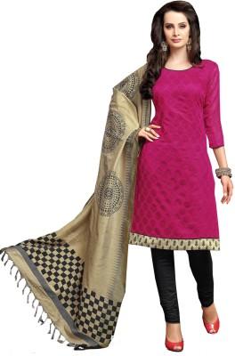 Krizel Trendz Chanderi Printed Salwar Suit Dupatta Material