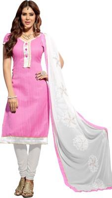 Ganga Fashion Jute, Silk Embroidered Salwar Suit Dupatta Material
