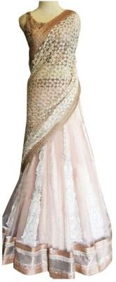 Colour Trendz Net Embroidered Semi-stitched Lehenga Choli Material