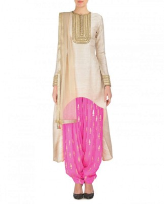 Styles Clothing Georgette Embroidered Semi-stitched Salwar Suit Material