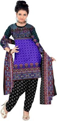 Varni Fashion Crepe, Synthetic Printed, Self Design Salwar Suit Dupatta Material