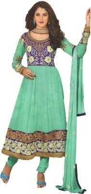 Kurtiz Georgette Printed Semi-stitched Salwar Suit Dupatta Material