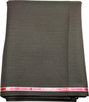 Gwalior Suitings Cotton Polyester Blend Striped Suit Fabric
