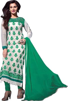 Fem&Hem Georgette Embroidered Semi-stitched Salwar Suit Dupatta Material