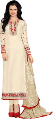 Harikrishn Georgette Embroidered Semi-stitched Salwar Suit Dupatta Material