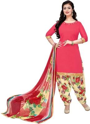 Giftsnfriends Cotton Printed Salwar Suit Dupatta Material(Un-stitched) at flipkart