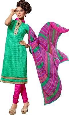 Saara Cotton Silk Blend Embroidered Salwar Suit Dupatta Material(Un-stitched) at flipkart