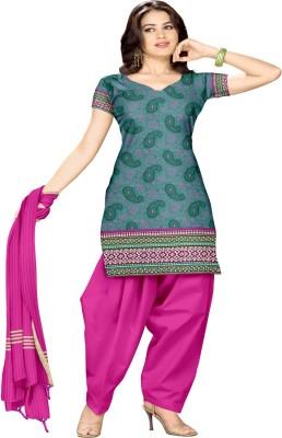 Pratami Cotton Printed Dress/Top Material