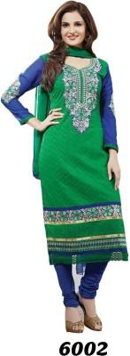 Shoppie Zone Cotton Embroidered Salwar Suit Dupatta Material