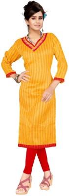 Trendz Apparels Silk Striped Kurti Fabric