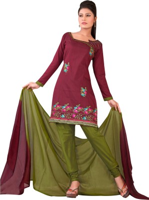 Urban Vastra Cotton Silk Blend Embroidered Dress/Top Material