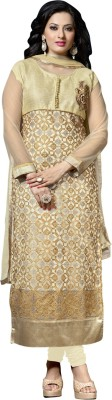 Vastrani Net Embroidered Semi-stitched Salwar Suit Dupatta Material