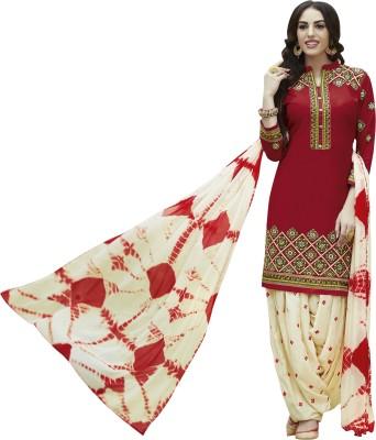 Kvsfab Cotton Embroidered Salwar Suit Material(Un-stitched) at flipkart