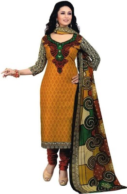 Shree Ram creation Cotton Printed Semi-stitched Salwar Suit Dupatta Material