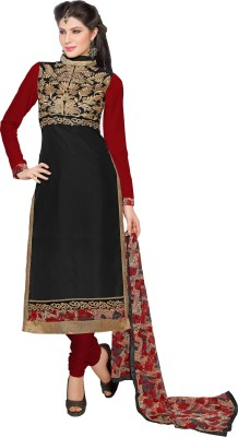Fstore Cotton Embroidered Semi-stitched Salwar Suit Dupatta Material