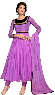 Desi Look Net Self Design Semi-stitched Salwar Suit Dupatta Material