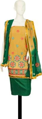 Satyam Shivam Sundaram Chanderi Embroidered Salwar Suit Dupatta Material