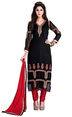 Khushali Georgette Self Design, Embroidered Dress/Top Material