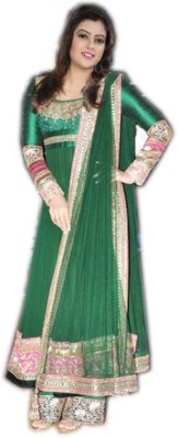 Priyanka Creation Georgette Embroidered Salwar Suit Dupatta Material