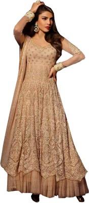 Whatshop Net Embroidered Salwar Suit Dupatta Material