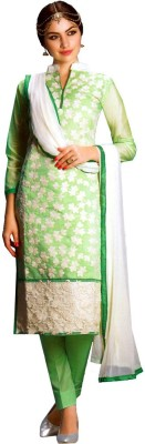 Charu Boutique Chanderi Embroidered Salwar Suit Dupatta Material