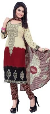 anjel pari Fashion Crepe Embroidered Semi-stitched Salwar Suit Dupatta Material