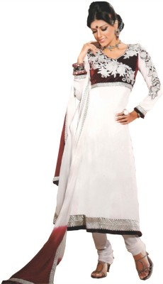 Vakaro Georgette, Velvet Floral Print Dress/Top Material