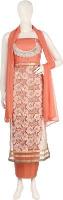 Aroras Fashion Net, Georgette Floral Print Semi-stitched Salwar Suit Dupatta Material