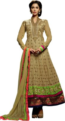 Anarkali Plus Net Self Design Semi-stitched Salwar Suit Dupatta Material