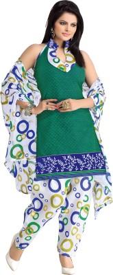 BanoRani Cotton Polyester Blend Printed Salwar Suit Dupatta Material