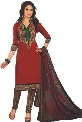 SUSETRENDZ Crepe Printed Salwar Suit Dupatta Material