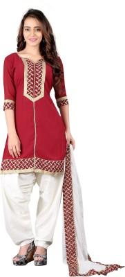 BanoRani Georgette Embroidered Salwar Suit Dupatta Material