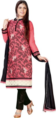 Vastrani Cotton Embroidered Semi-stitched Salwar Suit Dupatta Material