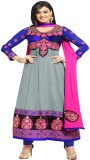 Online Fashion Marts Georgette Self Desi...