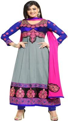 Online Fashion Marts Georgette Self Design Semi-stitched Salwar Suit Dupatta Material