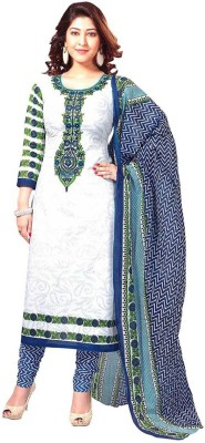 Aarna's Collection Crepe Printed Salwar Suit Dupatta Material