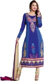 Ewows Georgette Embroidered Salwar Suit ...