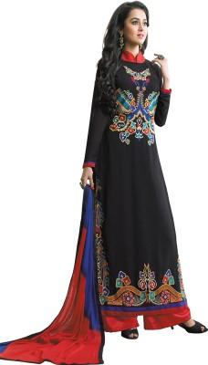 AV TRENDZ Georgette Embroidered Salwar Suit Dupatta Material