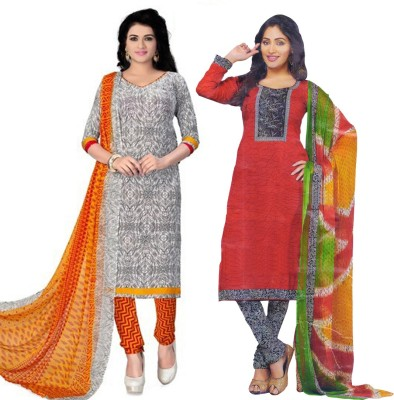 BANYAD Synthetic Striped Salwar Suit Dupatta Material