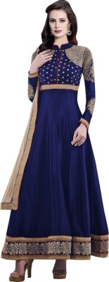 Shopping Queen Chiffon Embroidered Semi-stitched Salwar Suit Material
