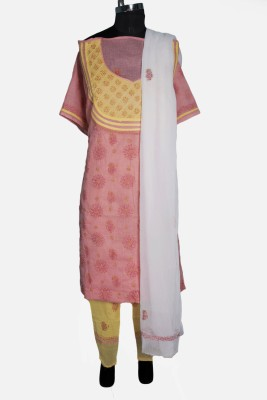 Sai Chikan Cotton Embroidered Salwar Suit Dupatta Material